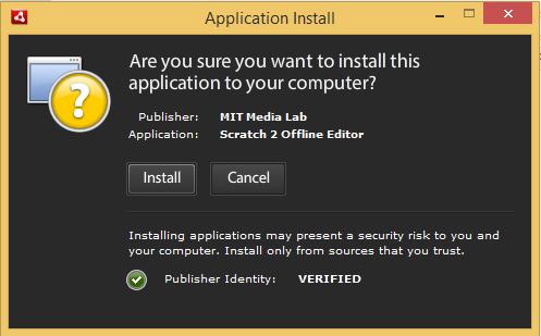 6.att. Scratch 2 instalēšanas Adobe AIR vednis.