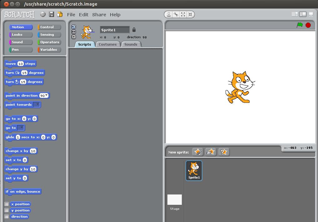 5. att. Scratch 1.4 uz Ubuntu 12.04 LTS.