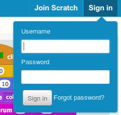 8. att. Pieteikšanās Scratch 2 tiešsaistes sistēmā.