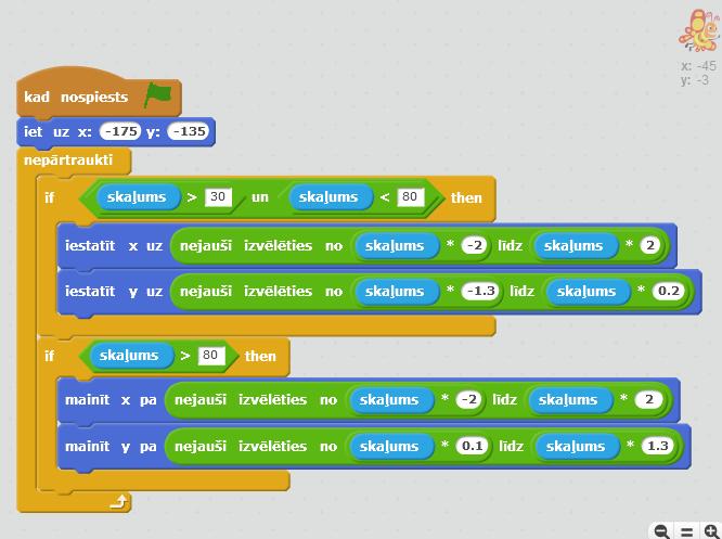 Programmiņas Taurenītis 1.1 koda ekrānattēls
